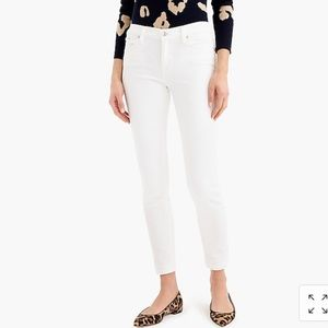 "J Crew 8"" toothpick jeans in white skinny 24"